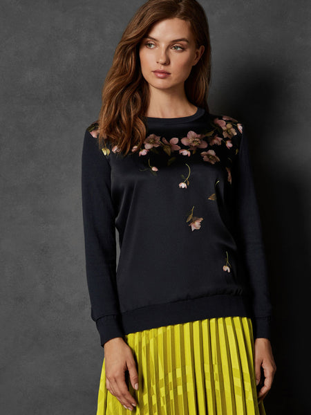 Yeltuor - TED BAKER - Knitwear - TED BAKER SOWFIEE ARBORETUM WOVEN COTTON KNIT -  -