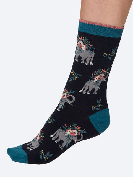 Yeltuor - THOUGHT - SOCKS - THOUGHT PRETTY ELEPHANT SOCKS IN A BAG -  -