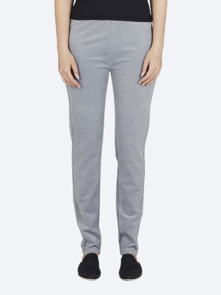 Yeltuor - VASSALLI - PANTS - VASSALLI SKINNY PULL ON CORD - CLOUD -  8