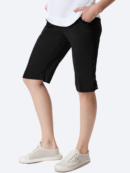 Yeltuor - VERGE - Shorts - VERGE ACROBAT ROLLED SHORT - BLACK -  10