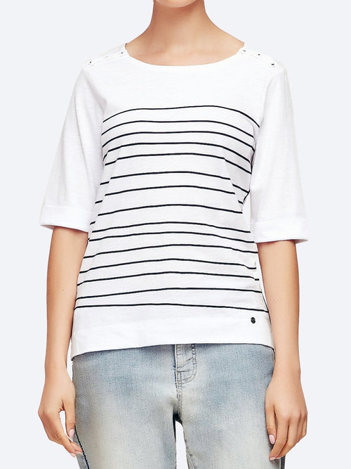 Yeltuor - VERGE - Tops - VERGE STRIPE VIEW TOP -  -