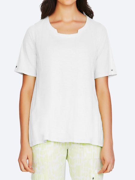 Yeltuor - VERGE - Tops - VERGE BREAK TOP - WHITE -  XS
