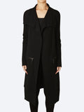 Yeltuor - VERGE - Jackets & Coats - VERGE CASHMORE WOOL KNIT COAT - BLACK -  XS