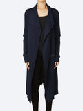 Yeltuor - VERGE - Jackets & Coats - VERGE CASHMORE WOOL KNIT COAT - BLUE -  XS