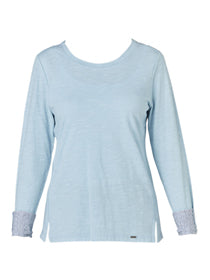 Yeltuor - VERGE - Tops - VERGE CLAUDE TOP - AQUA -  XS