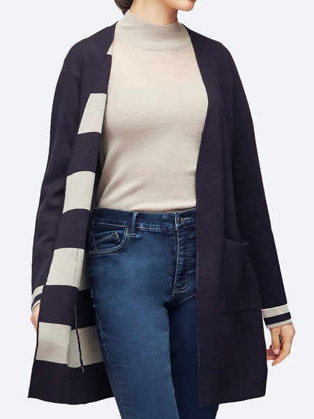 Yeltuor - VERGE - Knitwear - VERGE COLLECT CARDI - BLUE VELVET -  S