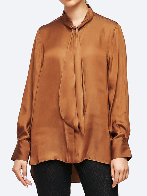 Yeltuor - VERGE - Tops - VERGE LIBERTY BLOUSE - BRONZE -  XS