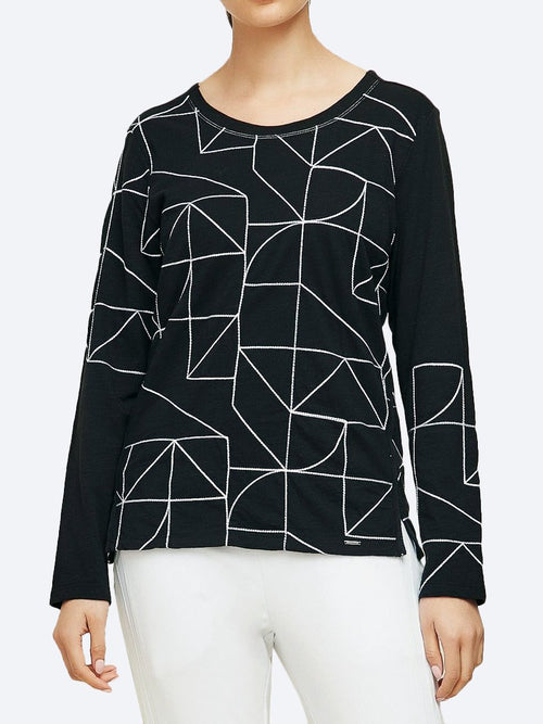 Yeltuor - VERGE - Tops - VERGE WISHLIST TOP - BLACK WHITE -  XS