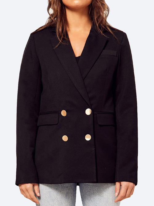 Yeltuor - WISH - Jackets & Coats - WISH PENINSULA BLAZER - BLACK -  8