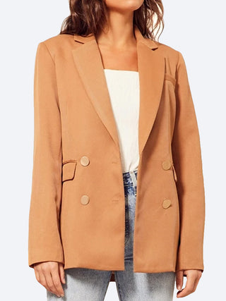 Yeltuor - WISH - Jackets & Coats - WISH PENINSULA BLAZER - TAN -  8