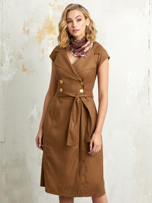 Yeltuor - SACHA DRAKE PTY LTD - Dresses - SACHA DRAKE GRENADA LINEN DRESS -  -