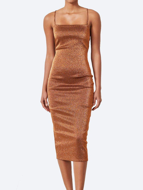 Yeltuor - BEC & BRIDGE - Dresses - BEC + BRIDGE BRONZE BABY MIDI DRESS -  -