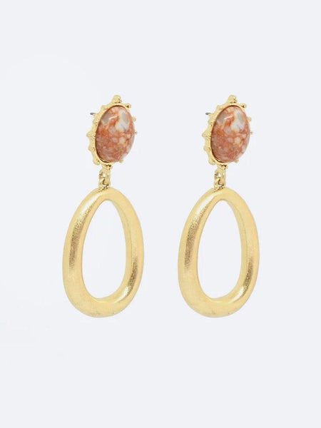 Yeltuor - BLING BAR - Accessories & Shoes - BLING BAR CLARA EARRINGS ROSE -  -