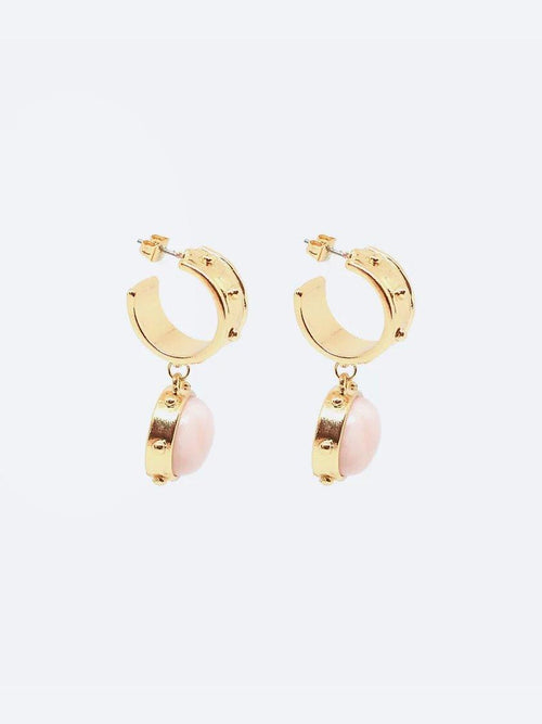 Yeltuor - BLING BAR - Accessories & Shoes - BLING BAR GABRIELLA HOOP DROP EARRINGS -  -