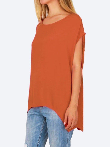 Yeltuor - BOHO AUSTRALIA - Tops - BOHO AUSTRALIA JANE TOP - ORANGE -  S