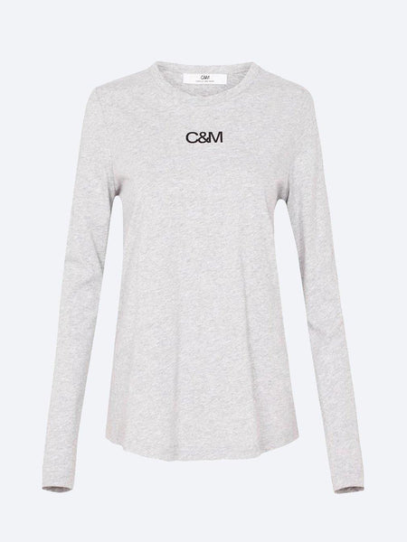 Yeltuor - CAMILLA AND MARC - Tops - C&M by CAMILLA AND MARC LIGERO LONGSLEEVE LOGO TEE -  -