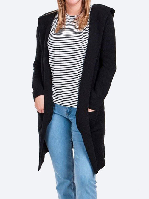 Yeltuor - CAROLINE K MORGAN PTY LTD - JUMPERS - CAROLINE K MORGAN HOODED LONGLINE CARDIGAN -  -