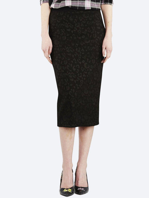 Yeltuor - EMPIRE ROSE - Skirts - EMPIRE ROSE LEOPARD LUREX PENCIL SKIRT -  -