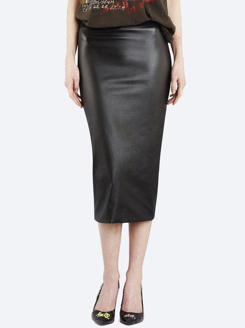 Yeltuor - EMPIRE ROSE - Skirts - EMPIRE ROSE VEGAN LEATHER COCKTAIL SKIRT -  -