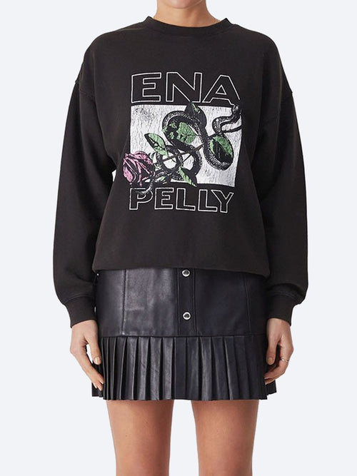 Yeltuor - ENA PELLY - Tops - ENA PELLY SNAKE ROSE SWEATSHIRT -  -
