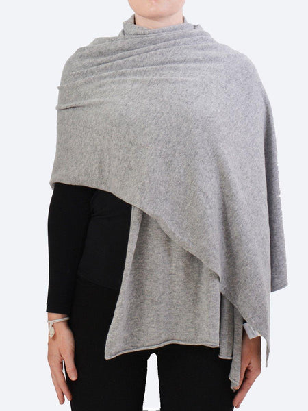 Yeltuor - JAMES MELBOURNE - Knitwear - JAMES CASHMERE WRAP - FLOWER GREY -  ALL