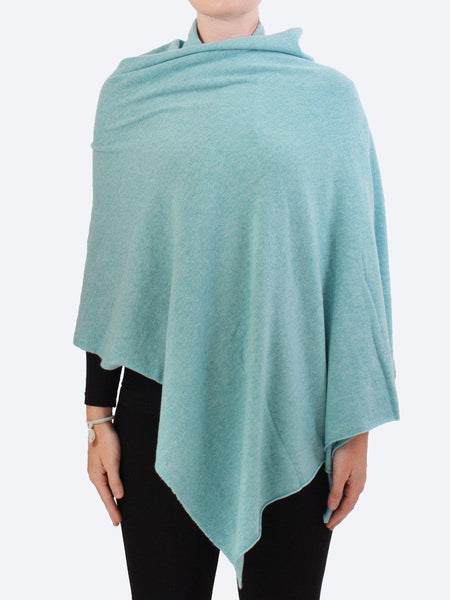 Yeltuor - JAMES MELBOURNE - Knitwear - JAMES CASHMERE WRAP - POWDERED AQUA -  ALL