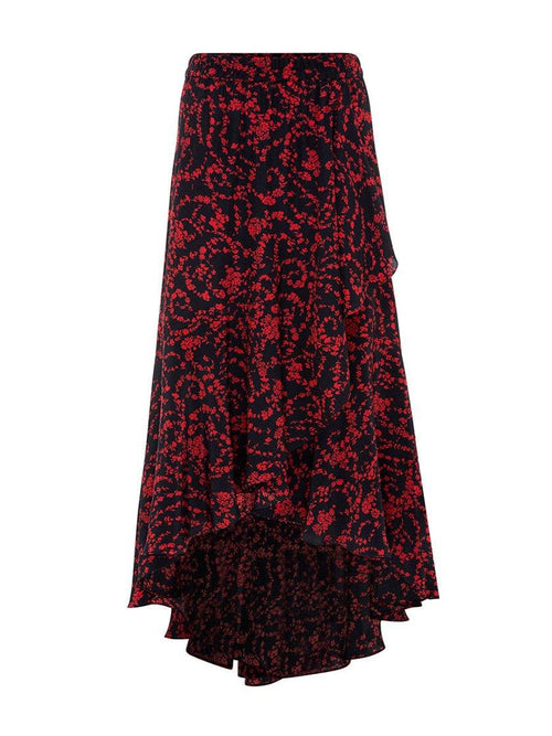 Yeltuor - MELA PURDIE - Skirts - MELA PURDIE MAXI WRAP SCROLL SKIRT -  -