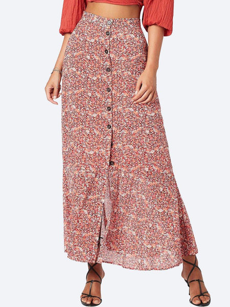 Yeltuor - MINKPINK - Skirts - MINKPINK HEIRLOOM BLOSSOM MAXI SKIRT -  -
