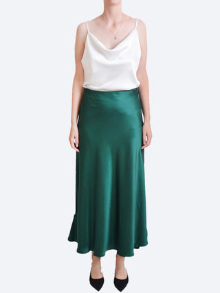Yeltuor - SLIDE SHOW (TRENDY HOUSE) - Skirts - SLIDE SHOW DENISE SATIN SLIP SKIRT - EMERALD -  6