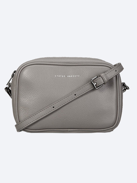 Yeltuor - STATUS ANXIETY - BAGS - STATUS ANXIETY LEATHER PLUNDER BAG - LIGHT GREY -  N/A