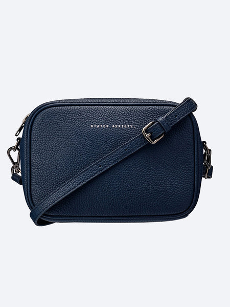 Yeltuor - STATUS ANXIETY - BAGS - STATUS ANXIETY LEATHER PLUNDER BAG - NAVY -  N/A