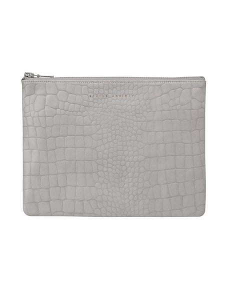 Yeltuor - STATUS ANXIETY - BAGS - STATUS ANXIETY ANTI HEROINE CLUTCH - GREY CROC -  N/A
