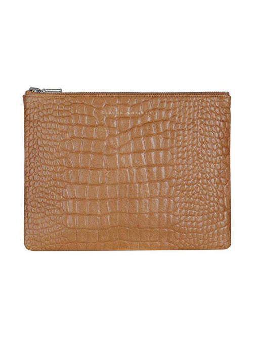Yeltuor - STATUS ANXIETY - BAGS - STATUS ANXIETY ANTI HEROINE CLUTCH - TAN CROC -  N/A