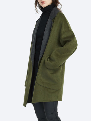 TIRELLI CONTRAST REVERE WOOL COAT