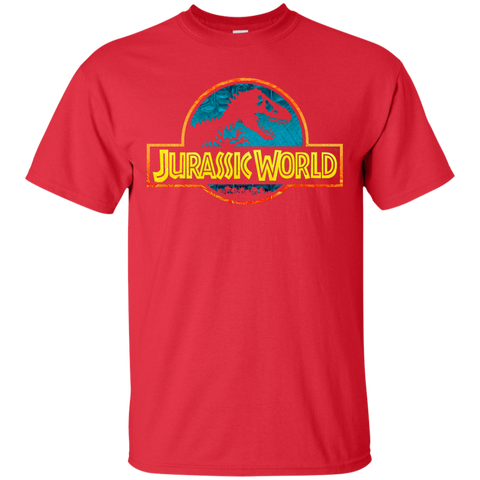 Jurassic Park Jurassic World Logo= Mens Cotton T-Shirt=22.99