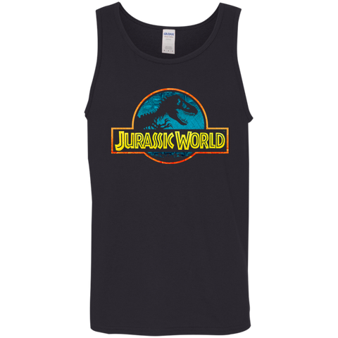 Jurassic Park Jurassic World Logo= Mens Tank Top