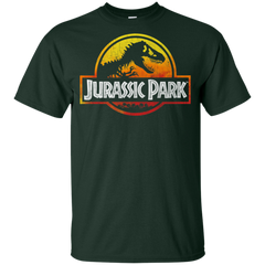 Jurassic Park Sunset Logo Boys Cotton T-Shirt Boys Cotton T-Shirt - FanClub Gifts