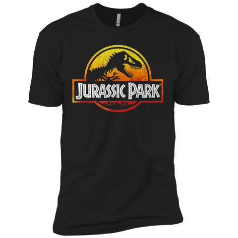 Jurassic Park Sunset Logo Mens Short Sleeve T-Shirt Black / S Mens Short Sleeve T-Shirt - FanClub Gifts