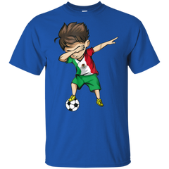 Dabbing Soccer Boy Mexico Jersey Shirt - Mexican Football Boys Cotton T-Shirt Boys Cotton T-Shirt - FanClub Gifts