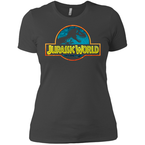 Jurassic Park Jurassic World Logo= Womens Cotton T-Shirt