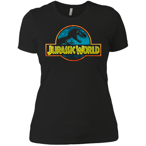 Jurassic Park Jurassic World Logo Womens Cotton T-Shirt