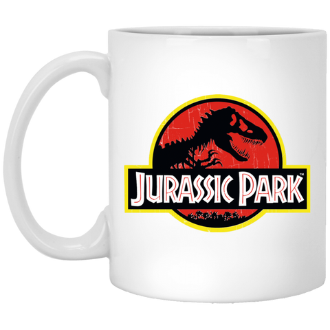 Jurassic Park Logo - Jurassic Park  Movie 2018 White Mug 11 oz White / One Size White Mug 11 oz - FanClub Gifts