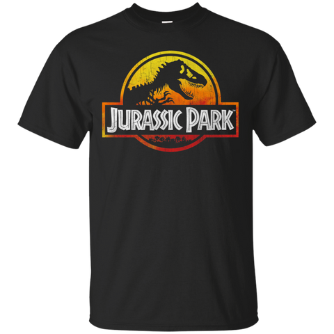 Jurassic Park Sunset Logo Mens Cotton T-Shirt