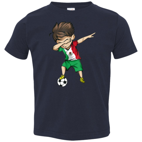 Dabbing Soccer Boy Mexico Jersey Shirt - Mexican Football Toddler Jersey T-Shirt