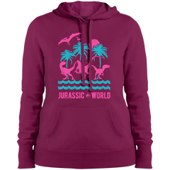 Jurassic Park Jurassic Island= Ladies Pullover Hooded Sweatshirts - FanClub Gifts