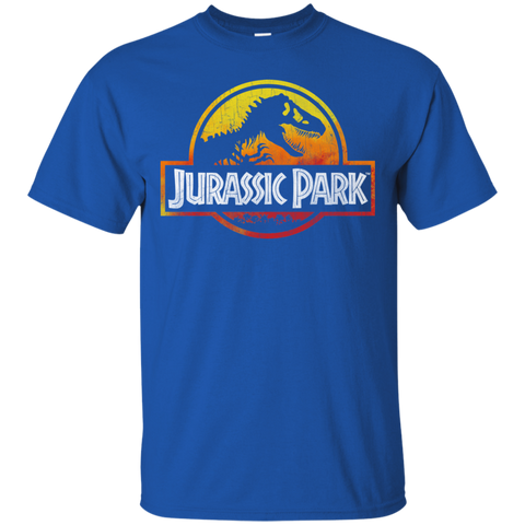 Jurassic Park Sunset Logo= Mens Cotton T-Shirt=22.99