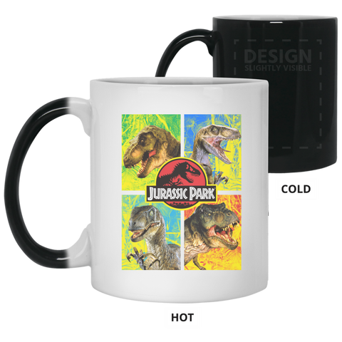 Jurassic Park Jurassic Defense Color Changing Mug 11 oz White / One Size Color Changing Mug 11 oz - FanClub Gifts