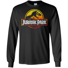 Jurassic Park Sunset Logo Mens Long Sleeve Shirt Mens Long Sleeve Shirt - FanClub Gifts