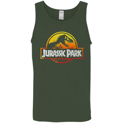 Jurassic Park Sunset Logo Mens Tank Top