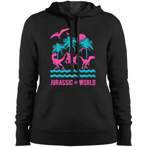 Jurassic Park Jurassic Island= Ladies Pullover Hooded Black / S Sweatshirts - FanClub Gifts